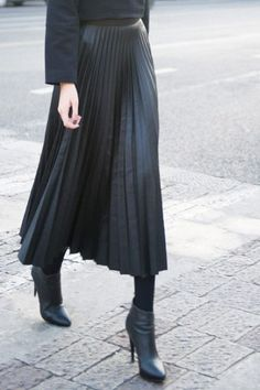 pleated leatherette skirt - Google Search