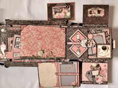 Hi everyone :-)   Have made wedding accordion boxed photo album with the beautiful Mon Amour collection from Graphic 45.There are 4 pocket ...