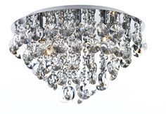 Jester 5 Light Semi Flush Ceiling Fitting In Polished Chrome Finish With Clear Crystal Decoration Crystal Ceiling Light, Semi Flush Ceiling Lights, Dar Lighting, Flush Mount Lighting, Bathroom Ceiling Light, Ceiling Light Fixtures, Gold Chrome, Polished Chrome, Crystal Decor