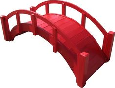 SamsGazebos Miniature Japanese Wood Garden Bridge 29Inch Red ** To view further for this item, visit the image link.