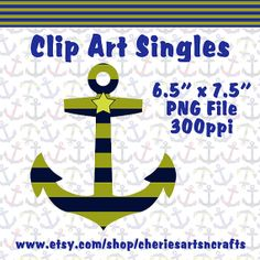 Clip Art Singles Anchor Clip Art Whimsical by CheriesArtsnCrafts, $1.00