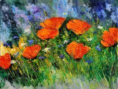 "Saatchi Online Artist Pol Ledent; Painting, ""Poppies 97"""