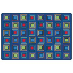 $374 Primary+Squares+Seating+Rug+-+Rectangle+-+8'W+x+12'L+at+SCHOOLSin