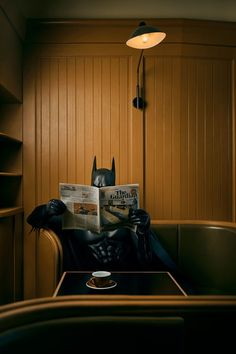 Coffee and News, picture from the series Daily Bat by Sebastian Magnani, LUMAS Artist ✓ Superman Dc Comics, Batman Comic Art, Im Batman, Batman Robin, Real Batman, Batman Poster, Batman Vs Superman, Batman Arkham, Batman Begins