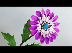 (1) ABC TV | How To Make African Daisies Paper Flower From Crepe Paper - Craft Tutorial - YouTube