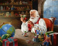 Christmas Art by Ralph McDonald - RIVERWIND GALLERY PRESENTS ART FOR YOU Christmas Shows, Old Fashioned Christmas, Christmas Scenes, Santa Christmas, Christmas Pictures, Vintage Christmas, Illustration Noel, Christmas Illustration, Illustrations