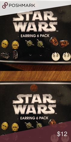 Star Wars earrings You get them all except R2! That's the only one I wanted, but I bought the whole set. Sold as a set only. ModCloth Jewelry Earrings