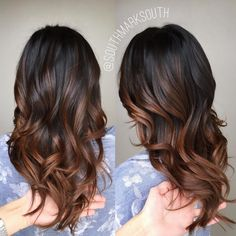 """276 Likes, 7 Comments - M a r k S o u t h (@southmarksouth) on Instagram: """"Warm Brown Balayage Ombré 🌙✨"""""""