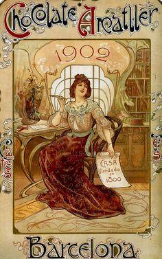 Chocolate Amatller from Barcelona, 1902.