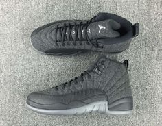 Air Jordan 12 Wool Release Date. The Wool Air Jordan 12 features a Dark Grey, Metallic Silver and Black color scheme. The Air Jordan 12 Wool release date is Jordan 23, Air Jordan 12 Retro, Jordan Shoes Girls, Girls Shoes, Tenis Basketball, Zapatillas Jordan Retro, Iphone 5c, Tumblr Outfits, Soccer Shoes
