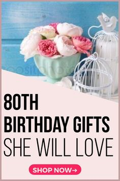 Birthday Gifts for Women - 25 Best Gift Ideas for 80 Year Old Woman Looking for awesome birthday gifts for 80 year old women? Shop unique birthday gift ideas for 80 year old women - st. 80th Birthday Decorations, 19th Birthday Gifts, Birthday Presents For Her, Unique Birthday Gifts, Unique Gifts For Her, Mom Birthday Gift, Birthday Gifts For Women, Birthday Ideas For Grandpa, Gifts For Elderly Women