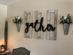 Dining Room Wall Decor, Dining Room Wall Art, Diy Farmhouse Decor, Gather Sign Dining Room, Gallery Wall Decor, Farm House Living Room, Sconces Dining Room, Piano Room Decor, Front Room Decor