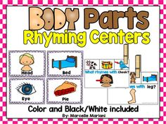 BODY PARTS- RHYMING CENTER ACTIVITIES