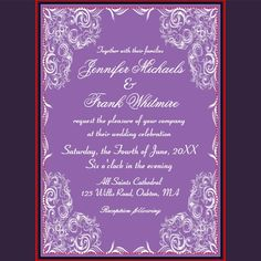 Lovely Lace Frame Gray Wedding 5x7 Paper Invitation Card