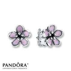Pandora Stud Earrings Cherry Blossom Sterling Silver
