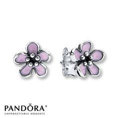 Pandora Stud Earrings Cherry Blossom Sterling Silver