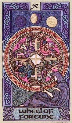 Wheel of Fortune Major Arcana Card Art | Celtic Tarot Deck | Oracle Cards #tarotcardsdiy #tarotcardsart