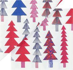 "Set of 20 Marimekko Kuusikossa Paper 6.5"" Napkins  | Crate and Barrel"