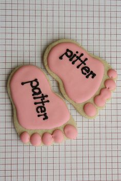baby feet baby shower cookies make these with card and use as topper for new baby/announcement cards - cute!!