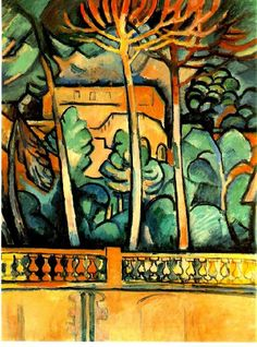 View from the Hotel Mistral, L'Estaque, 1907 by Georges Braque (French 1882-1963)