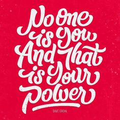 No one is you and that is your power. Dave Grohl (yeah that Dave Grohl) #designquote by @bbquearen #lettering #vector #typography by aigadesign