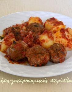 Κεφτέδες με πατάτες στην κατσαρόλα - cretangastronomy.gr Recipies, Food, Recipes, Essen, Meals, Yemek, Eten