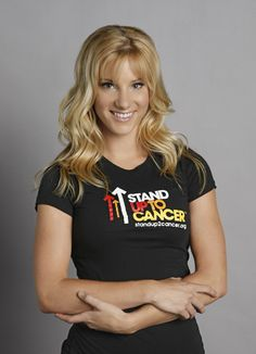 Heather Morris. Father died when she was 14, danced to deal with the death of him. Tried out for So You Think You Can Dance, was cut after initial auditions, then was a dancer for Beyonce and now is Brittany on Glee