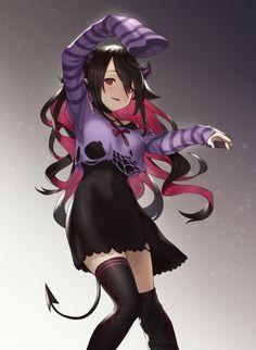 Sucubus Anime, Anime Demon, Anime Art, Fantasy Characters, Female Characters, Anime Characters, Loli Kawaii, Kawaii Anime, Soft Grunge
