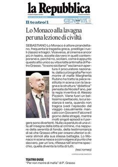 """5 novembre 2011 - La Repubblica - Resi Romeo su """"Per Non Morire di Mafia"""""""