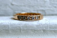 The Classic Vintage 14K Yellow Gold Pave Diamond by GoldAdore