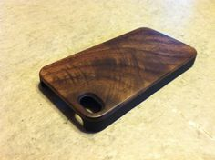 IPHONE 4 and 4s CASE real wood rich polished EXOTIC by GRAINCASES