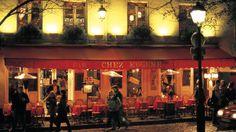 Sitting in a café in Paris