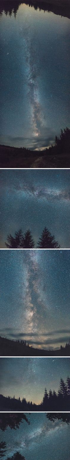 I'm excited to share with you a set of 5 high-resolution photos that capture the splendid night sky with the Milky Way...