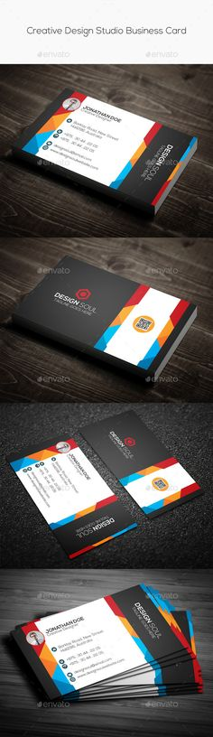 Creative Design Studio Business Card Template PSD | Buy and Download: http://graphicriver.net/item/creative-design-studio-business-card/9721172?ref=ksioks
