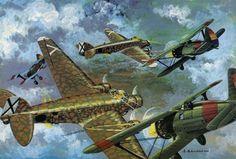 "Trimotor de bombardeo Savoia SM-81, ""el murciélago"""