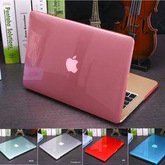 Copertura della cassa di cristallo trasparente per apple macbook air pro retina 11 12 13 15 laptop copertura della cassa del sacchetto per macbook air 13 ritaglio logo