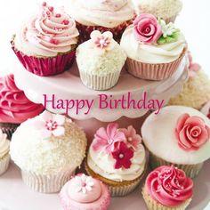 birthday cupcakeS-PINK