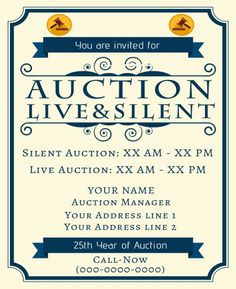 10 Best Silent Auction Flyers Images Silent Auction