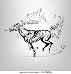 Decorative Horse And Horse Frame Stock Vector 144583640 : Shutterstock