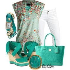 Summer. . White, sea green, color!