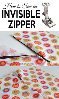 I love adding an Invisible Zipper to a garment. There is no need to be afraid of them; they are really easy to install. All you need is an Invisible Zipper Foot and adding an invisible zipper is a snap. #invisiblezipper #DIYzipper #howtosewazipper