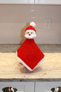 Santa Crochet Security Blanket Baby's Christmas by ChainStitchers, $38.00