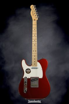 Fender American Standard Telecaster - Mystic Red, Maple, Left Hand | Sweetwater.com | Left-handed Solidbody Electric Guitar with Alder Body, Maple Neck and Fingerboard, and Two Single-coil Pickups - Mystic Red