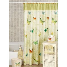Awesome Butterfly Bathroom Window Curtains