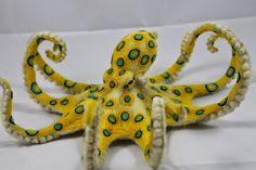 Kiyoshi Mino // Needle Felted Animals -Blue-Ringed Octopus