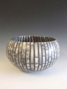 Bowl Form' Coil-built, raku fired ceramic.  David Roberts. U.K