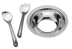 Wilton Armetale Flutes and Pearls 3-Piece Salad Set, Large 272106 #WiltonArmetale