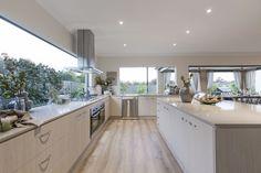 64 trendy kitchen window splashback home Log Home Kitchens, Home Decor Kitchen, Kitchen Interior, Cool Kitchens, Kitchen Ideas, Open Plan Kitchen, New Kitchen, Awesome Kitchen, Contemporary Kitchen Design