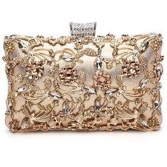 Amazon.com: GESU Large Womens Crystal Evening Clutch Bag Wedding Purse... (86 MYR) ❤ liked on Polyvore featuring bags, handbags, clutches, man bag, evening purses clutches, prom clutches, party clutches and purse clutches