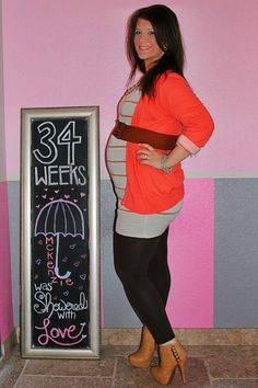 Chalkboard Pregnancy 34 Weeks: Showered With Love